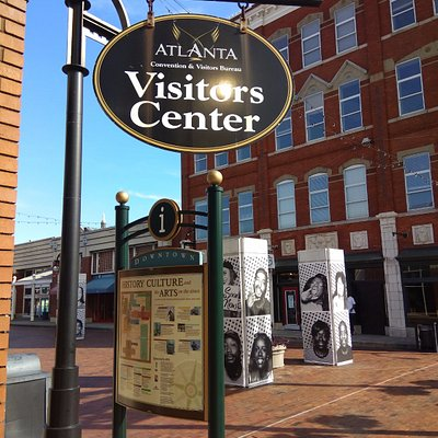 Outside the Visitors Center. Pity I could not explore of underground Atlanta!!!