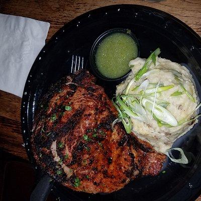 cash only. Wednesday steak night. steak fat boy and ribeye.