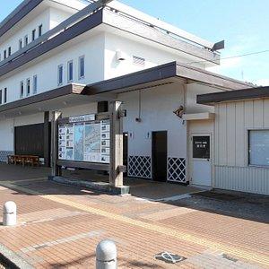 観光案内所のあるJR東萩駅