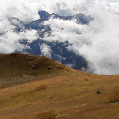 Climbing above the clouds in The Republic of Georgia.