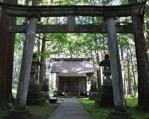 小さな神社は苔の中にあります