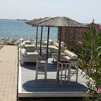 Loungeplek bij Cephalonia Palace restaurant