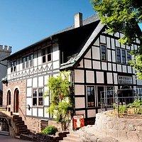 Burgcafé Gadem im zweiten Burghof der Wartburg
