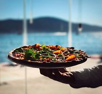 Pizza with a view.