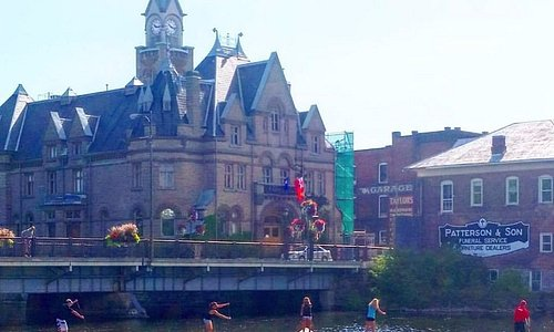 Downtown Carleton Place by Town hall
