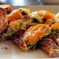Mushroom Cheese Omlette; Image Credit: ©Team Kyaa Karein