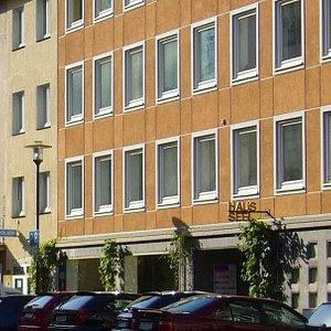 Hinter dieser unscheinbaren Fassade verbirgt sich die Städtische Galerie Haus Seel