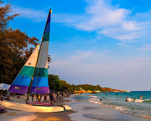 Our HobieCat on our beach