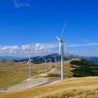 Вид с последней ветряной электростанции