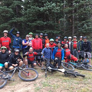 our group of 21 shuttled to the top of the whole enchilada www.denverbomb.com
