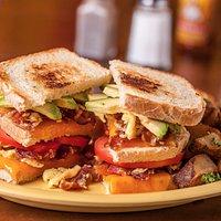 The Triple Decker Garth Breakfast Sandwich