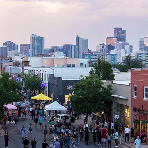 Just a stone's throw from downtown is Denver's Art District on Santa Fe, home to hundreds of art