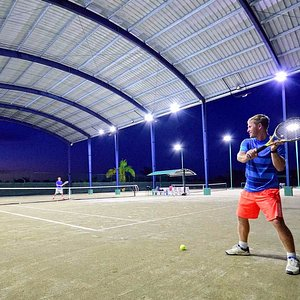 The only 1 covered tennis court in all entire Dominican Republic