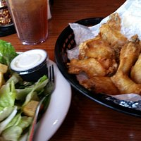 Salad and Chicken Wings