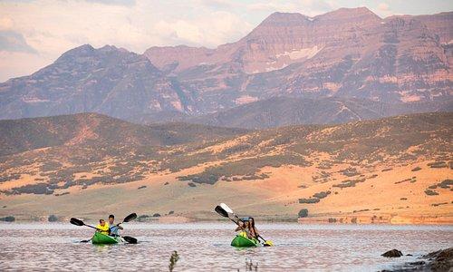 Kayaking on Heber Valley's Deer Creek Reservoir. Photo: Adam Barker