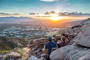 The Living Room Trail offers a scenic Salt Lake City viewpoint.