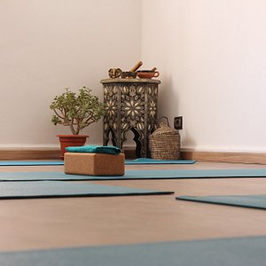 Practice & Props at Tamraght Yoga Studio