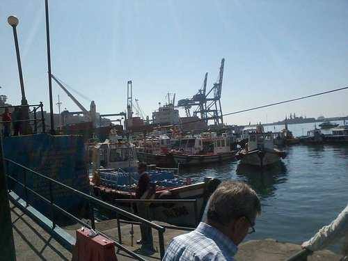 Vistas del puerto de Valparaiso