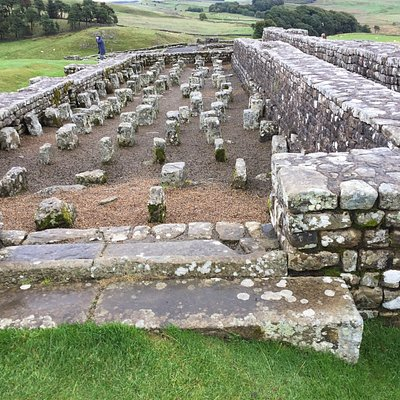Forts, milecastles and turrets along Hadrian's Wall.