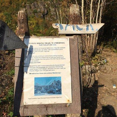 Where you start the hike