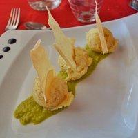 Il Baccalà Mantecato con sfoglia di pasta fillo, assolutamente delizioso! 😋❤️