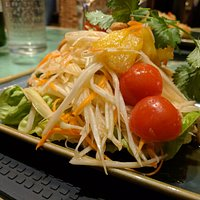 Thai salad - ordered this with 2 chillies and it was just right for me (but I do like very hot f