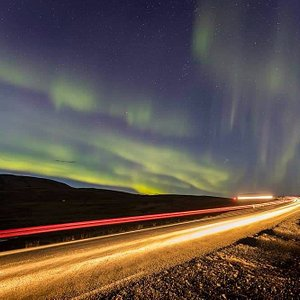 See the northern lights in Iceland with Alhestar horse riding tours.