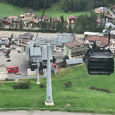 Blick hinunter zur Talstation in Sölden