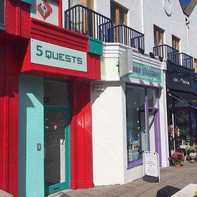 We are beside Londis corner shop on Bray Road!