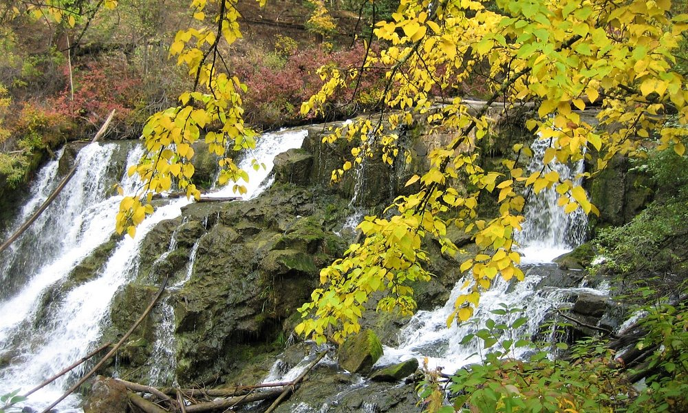 View of the waterfall in September
