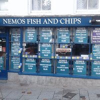 Nemos fish and chip shop the best fish and chips in cornwall by far , opposite the kings arms ho
