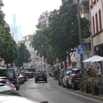 Bergerstraße unterhalb des Merianplatzes