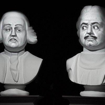 М. В. Ломоносов и Петр I обсуждают судьбу России