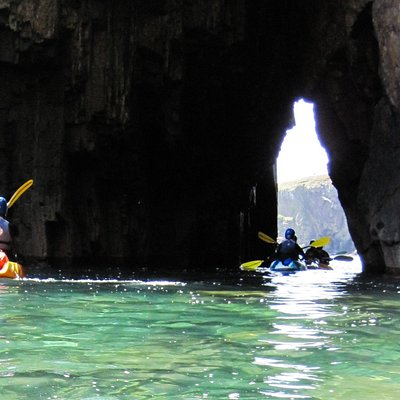 Beautiful caves to explore on our kayaking half days and coastal explorer full day trips