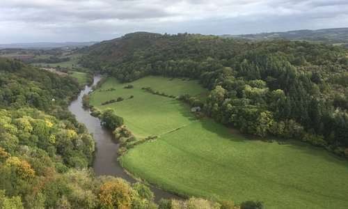 More scenic views down into the River Wye Valley