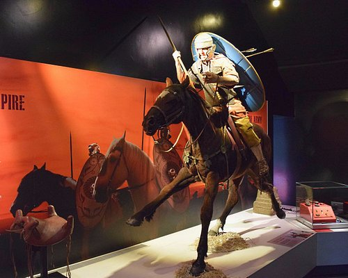 Soldier on horse.