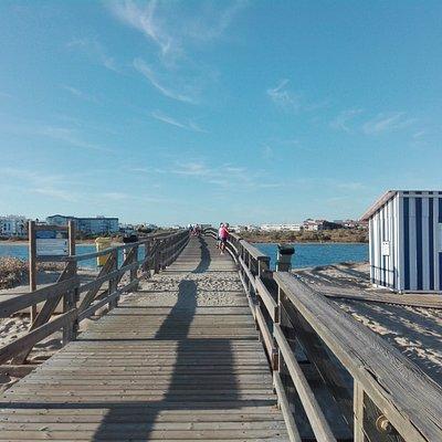 Puente de acceso a Punta del Caiman.