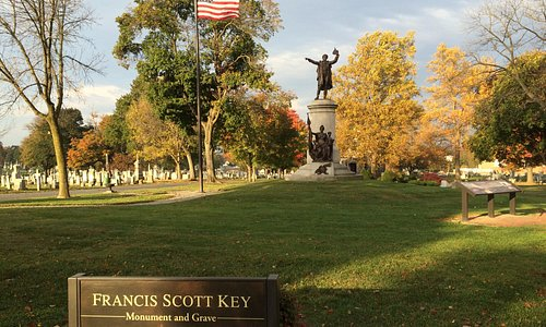 Monument and final resting place of Francis Scott Key (1779-1843)