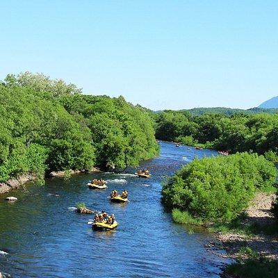 自然あふれるニセコの川を流れよう「ラフティング」