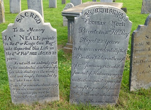 Cemetery headstones tell many stories