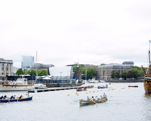 The Matthew being towed by Gigs in celebration of her 20th anniversary (With Thanks to David Gue