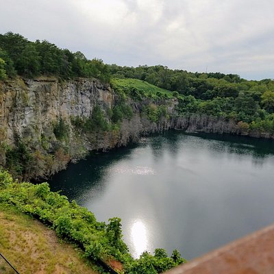 The old quarry site as seen from the observation deck