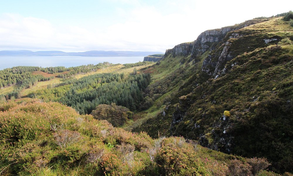 On the cliff walk looking South-East towards Trotternish