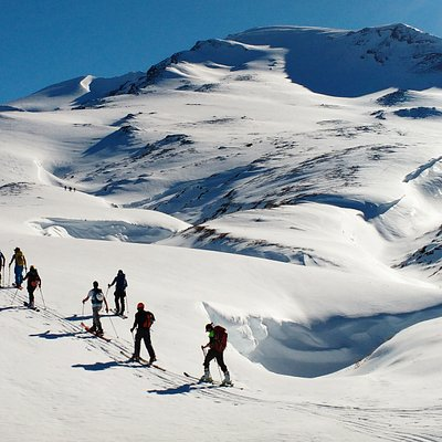Backcountry skiing in Patagonia - Puyehue
