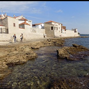 The most evocative stretch of the walls, overlooking the south coast of the historic city