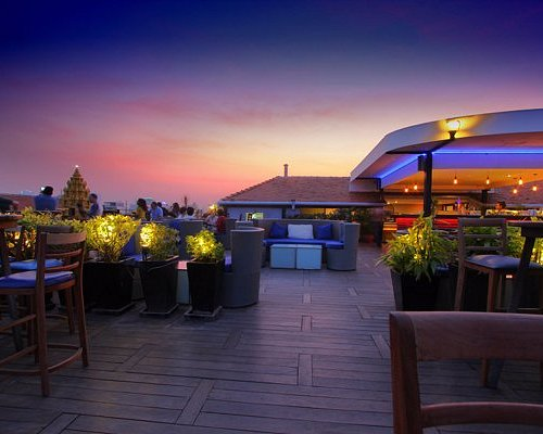 Sunset on the rooftop