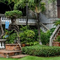 External staircase at Casa Gorordo in Cebu
