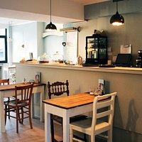 Gastraum des Cafe Juli