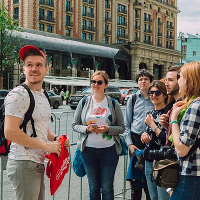 Exploring Tverskaya street during Moscow Behind the Icons Tour
