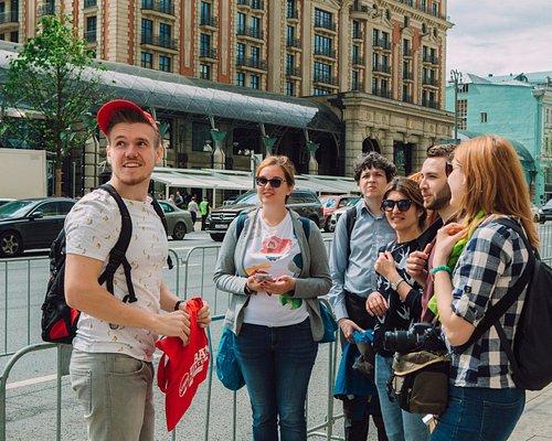 Exploring Tverskaya street during Moscow Behind the Icons Tour